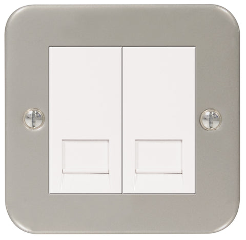 MC5BTM2 - 1 Gang Double Master BT Telephone Socket - Metallic