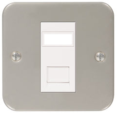 MC5RJ451 - 1 Gang Single RJ45 Data Outlet Socket - Metallic