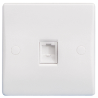 GU7071 Ultimate white moulded RJ45 single data outlet