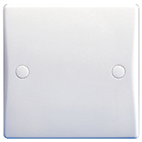 GU8010 Ultimate white moulded 1 gang blank plate