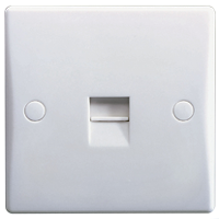 GU7061 Ultimate white moulded Master telephone socket