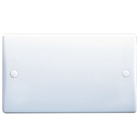 GU8020 Ultimate white moulded 2 gang blank plate