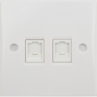 GU7072 Ultimate white moulded RJ45 twin data outlet