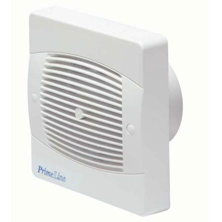 Manrose Primeline PEF4040A 4 inch (100mm) Automatic Shutter Toilet / Bathroom Extractor Fan with Humidistat & Timer  (XF100AH)