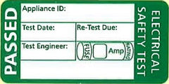 PAT Testing - Pass Appliance Labels 100 Per Roll