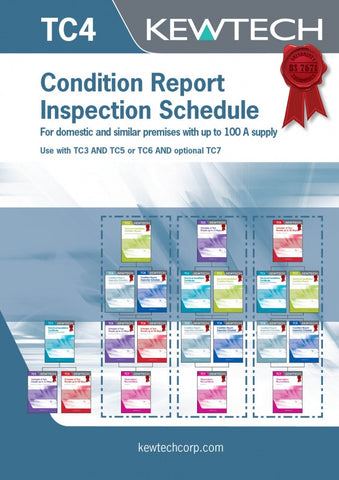 Kewtech - TC4 Condition Report Inspection Schedule up to 100A