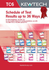 Kewtech - TC6 Schedule of Test results 36 Ways