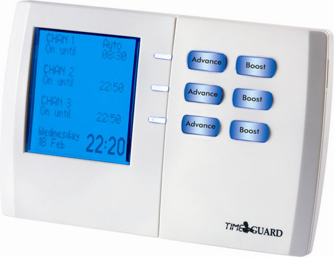 Timeguard - TRT 038 - 7 Day Digital Heating Programmer - Three Channel
