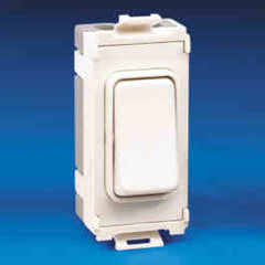 GUG102RW Ultimate grid 10AX 2 way retractive switch module white moulded