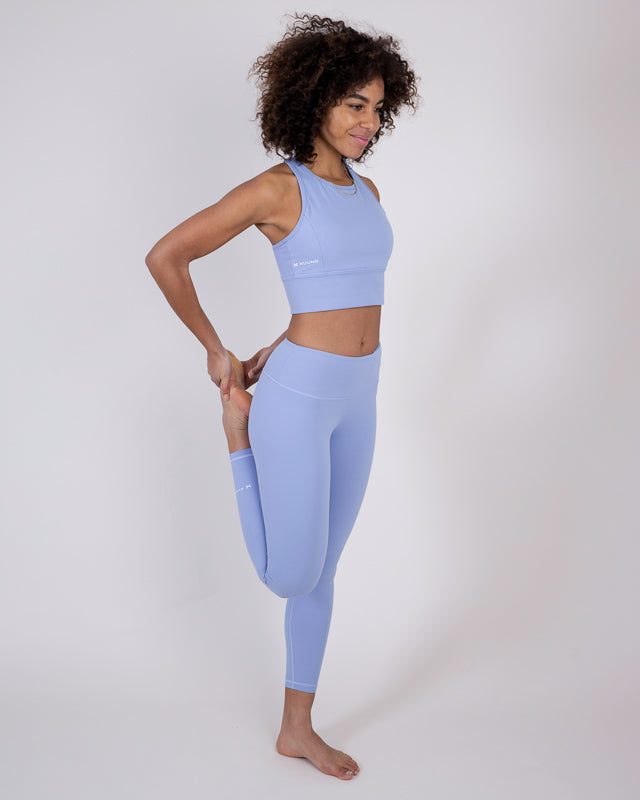 Essential High Waist Tights Sky Blue