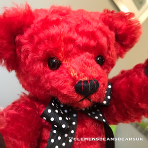 SOLD OUT: TEDDY AMARYLLIS / DEAN'S MOHAIR LIMITED BEAR