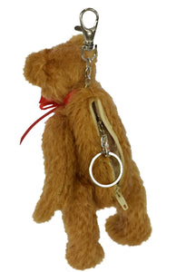 CLEVER TEDDY TOMKE / MOHAIR QUALITY BEAR (KEY RING /COIN CASE)