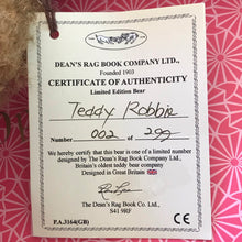 Load image into Gallery viewer, TEDDY ROBBIE / DEAN'S MOHAIR LIMITED BEAR