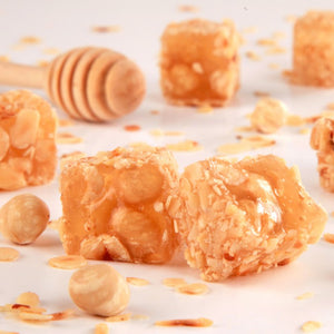 Fillet Hazelnut Coated Turkish Delight with Orange Flavored