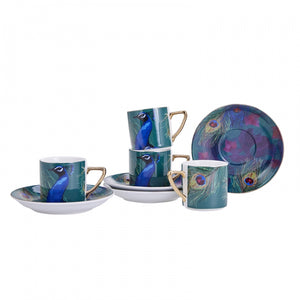 Turkish Coffee Cup Set Peacock
