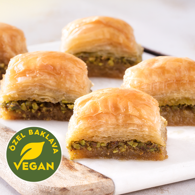 Fresh Vegan Baklava with Pistachio - TurkishTaste.com