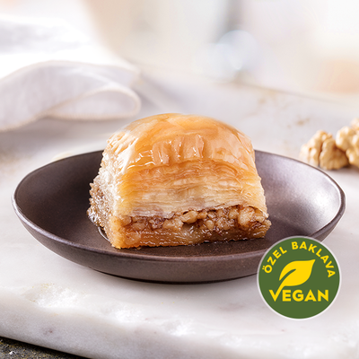 Fresh Vegan Baklava with Walnuts - TurkishTaste.com