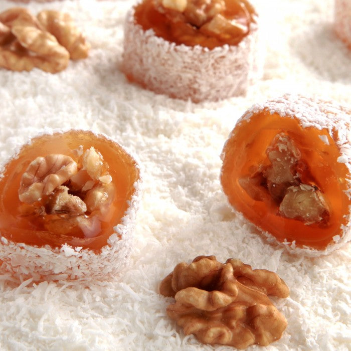 Fresh Turkish Delight with Walnut
