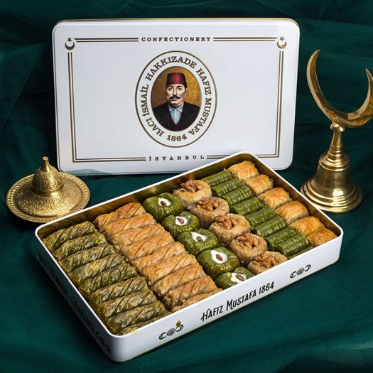Assorted Baklava in Metal Gift Box 2200g