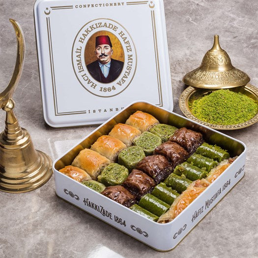 Assorted Baklava in Metal Gift Box 1100g