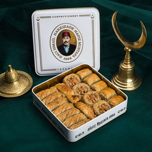 Assorted Walnut Baklava in Metal Gift Box 1000g