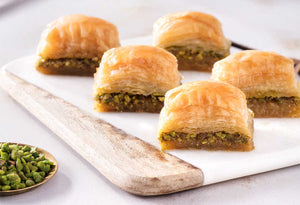 Fresh Baklava with Pistachio - TurkishTaste.com
