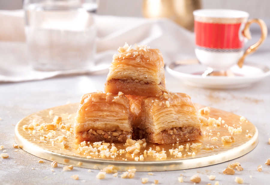 Fresh Baklava with Walnuts