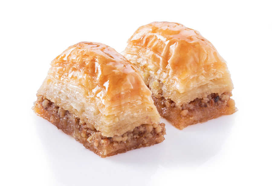 Fresh Baklava with Walnuts - TurkishTaste.com