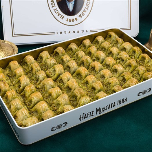 Cimcik Baklava with Pistachio in Metal Gift Box 2160g
