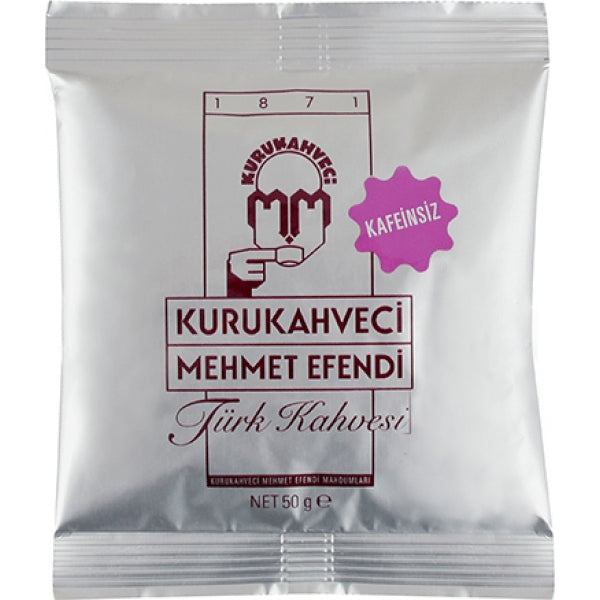 Decaf Turkish Coffee Kurukahveci Mehmet Efendi 50g - TurkishTaste.com