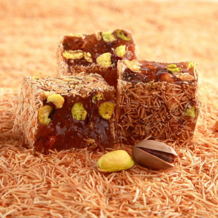 Turkish Delight Kadayif Covered with Pistachio