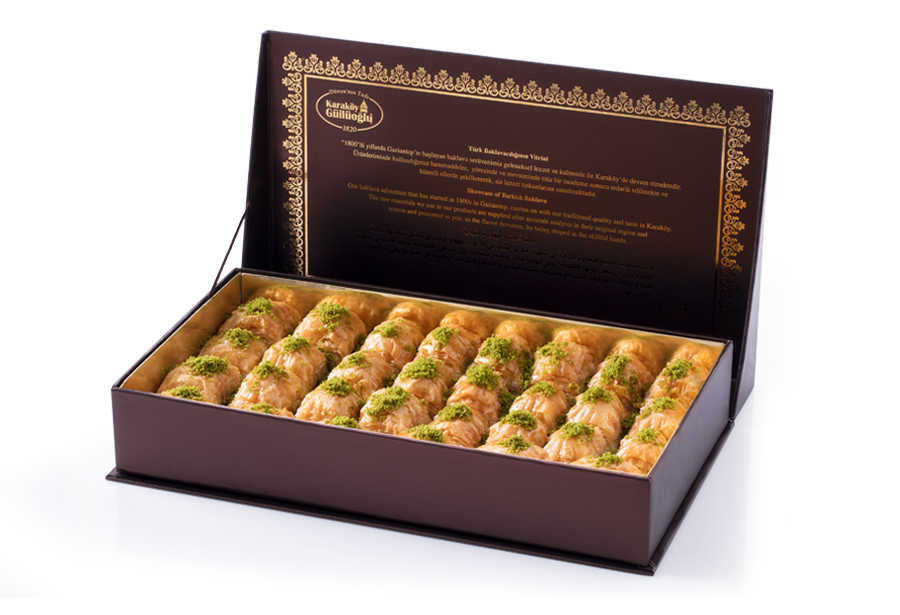 Fresh Long Lasting Baklava with Pistachio - Gift Box - TurkishTaste.com