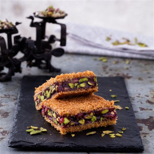 Pomegranate Ottoman Kadayif with Pistachio - TurkishTaste.com