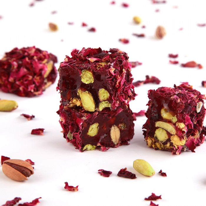 Turkish Delight Rose Petals Covered with Pistachio