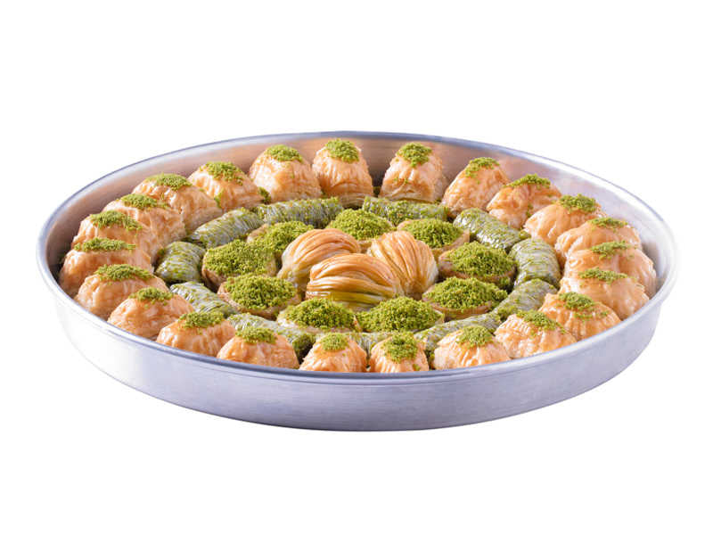 Special Tray Fresh Baklava with Pistachio