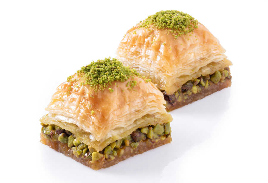 Fresh Square Baklava with Pistachio - TurkishTaste.com