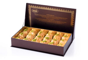 Fresh Square Baklava with Pistachio - Gift Box - TurkishTaste.com