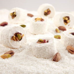 Sultan Turkish Delight with Coconut Covered and Pistachio Filling