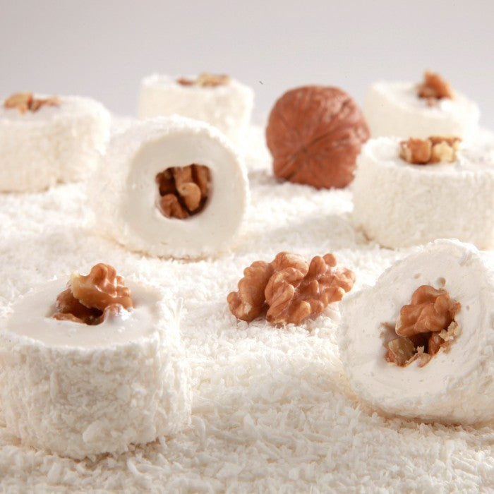 Sultan Turkish Delight with Coconut Covered and Walnut Filling