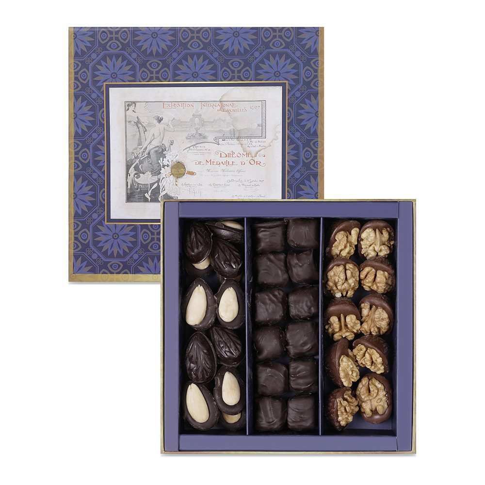 Chocolate Coated Madlen Mix Turkish Delight Box - TurkishTaste.com