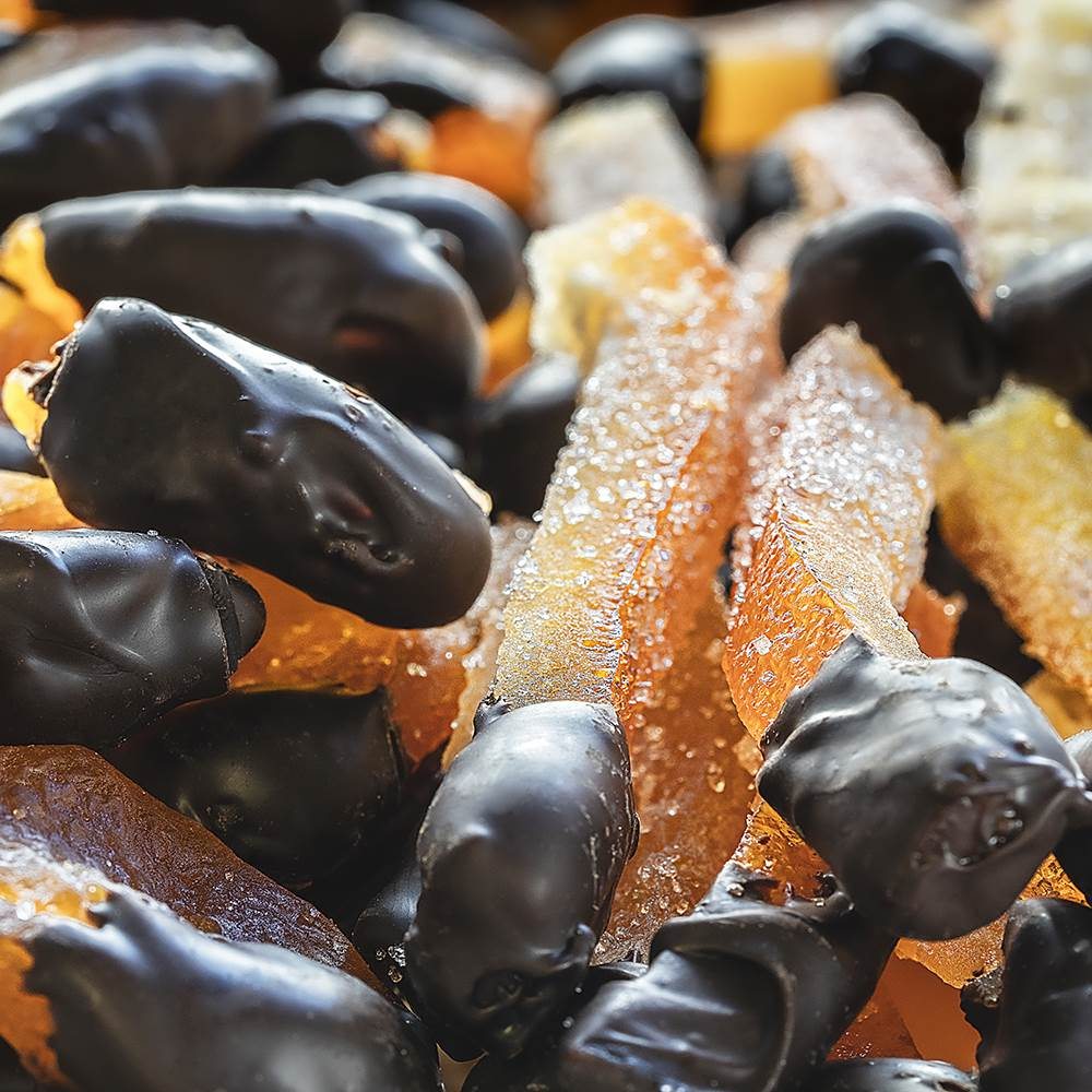 Dark Chocolate Coated Orange Candy - TurkishTaste.com