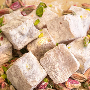 Turkish Delight with Extra Pistachio in Traditional Wooden Box - TurkishTaste.com
