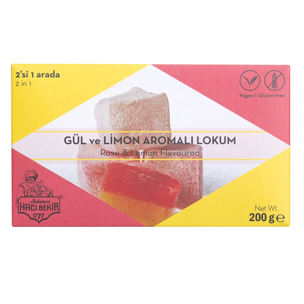 Turkish Delight with Rose and Lemon Flavored - TurkishTaste.com