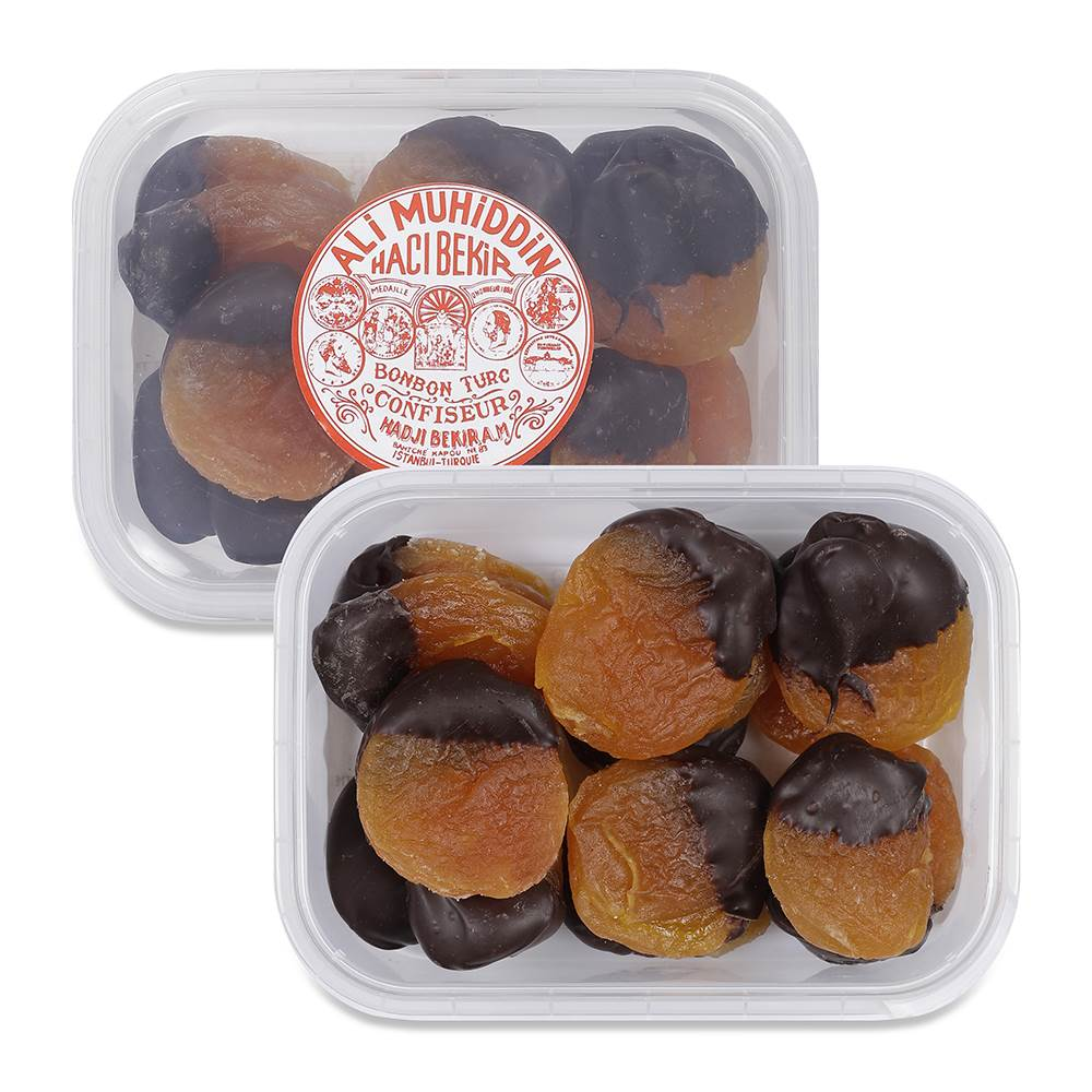 Dark Chocolate Coated Apricot Candy - TurkishTaste.com