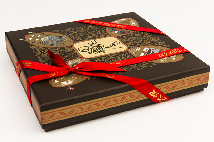 Turkish Delight with Walnut in Special Box 1kg (35.27oz) - TurkishTaste.com