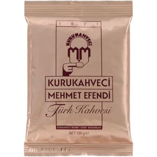 Turkish Coffee Kurukahveci Mehmet Efendi 100g - TurkishTaste.com