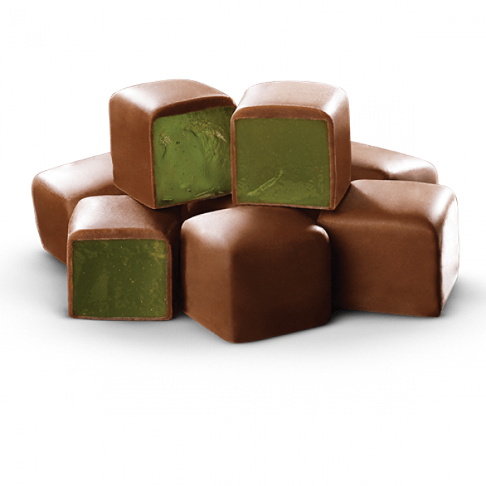 Turkish Delight Mint Flavored Chocolate coated - TurkishTaste.com