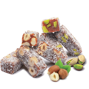 Turkish Delight Pistachio, Coconut and Hazelnut Flavored - TurkishTaste.com