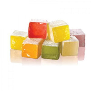 Turkish Delight with Mixed Fruit Flavored - TurkishTaste.com