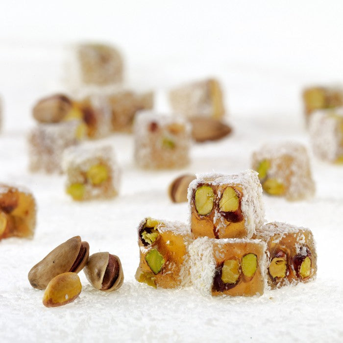 Coconut Coated Turkish Delight with Double Roasted Pistachio